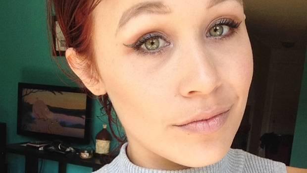Canadian model Catt Gallinger, before she decided to tattoo her eyeball.