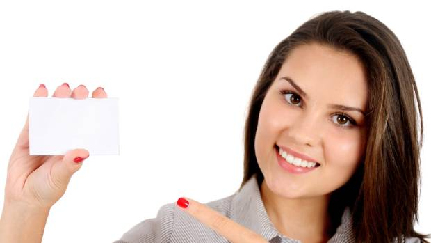 Using a blank card, this millennial demonstrates how much credit card information you should post on social media.