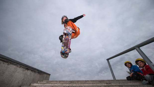 Isaiah Godfrey could not tie his shoe laces at age 9. Now he can jump off 10 steps on his skateboard.
