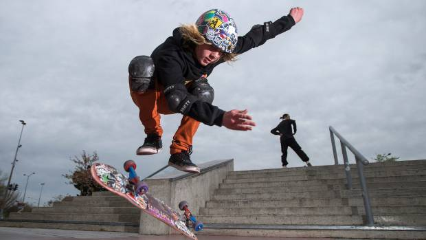 Isaiah Godfre hopes to be sponsored and become a professional skateboarder.