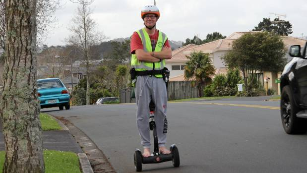 Declan Curran keeps his North Shore suburb of Unsworth Heights safe and secure on his daily patrols of the area on scooter.