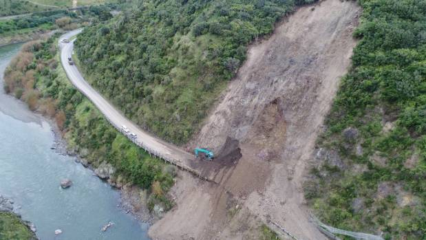 The Manawatū Gorge was closed since in April after several slips blocked the road.