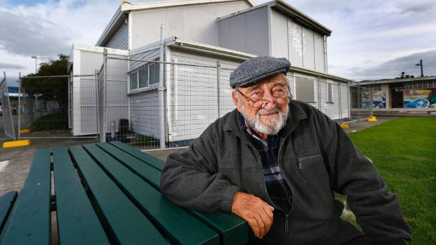 Bob Cater outside the former home of the Porirua Little Theatre at Titahi Bay. Cater was a strong advocate for restoring ...