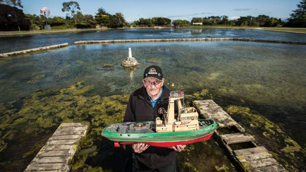 Modellers Society member Noel Dyer, along with other model enthusiasts, haven't been able to use the pond for some time ...