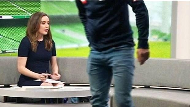 Melbourne Victory's Mitch Austin abruptly walks off ABC set