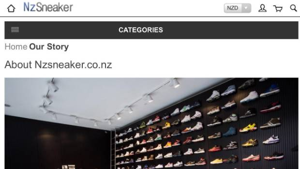 Nike says it has lodged a complaint with NZ authorities over Nzsneaker.co.nz.