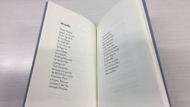One of Howell's poems, ''He walks''.