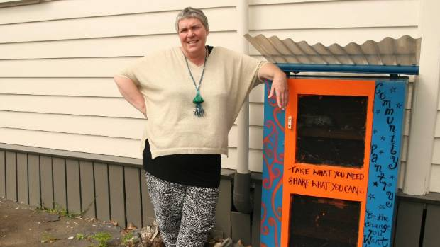 Cissy Rock has set up a community pantry in New Lynn, west Auckland.