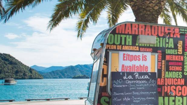 Daniela Arcos and Sebastian Rocha must have the best view of any food truckers in New Zealand.