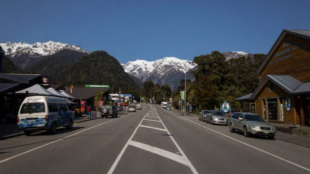 Franz Josef township attracts up to 500,000 visitors a year.