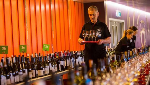 A wine steward at the New World Wine Awards 2017.