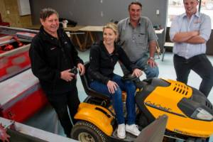 Kiwitea school auction organising team, from left; Merv Avery, Lucy McKinnon, Simon McKay and Zac Harris.