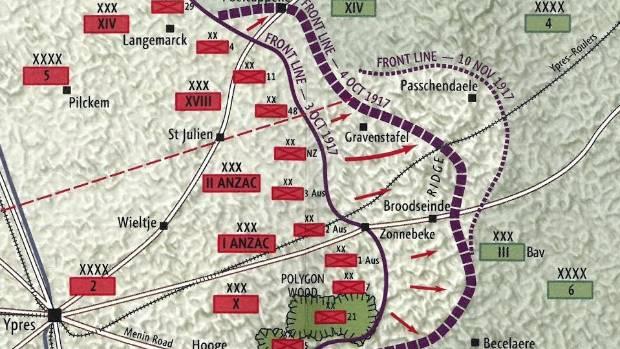 Sydney Carl Jordan's in the battle lines of Passchendaele