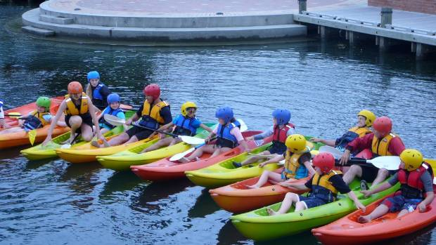Marlborough scouts have arranged for the public to use their canoes on the Taylor River in Blenheim as part of a summer ...
