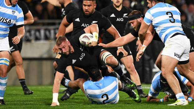 All Blacks second-rower Luke Romano hit several Argentine players with high shots in Buenos Aires.
