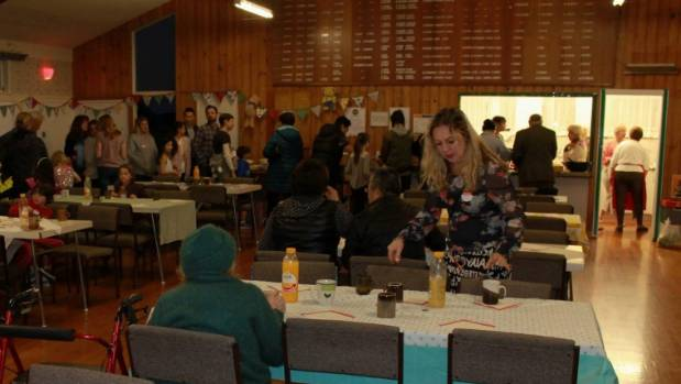The Bayswater Kaitahi Community Dinner drew 60 locals together to share a meal.