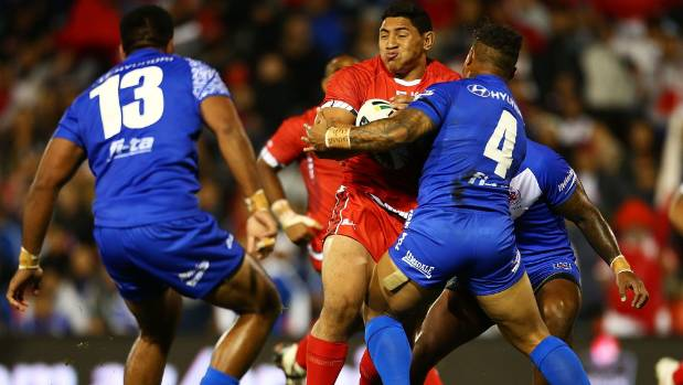 Tonga's Jason Taumalolo had to miss the team flight to their homeland because it was too heavy.