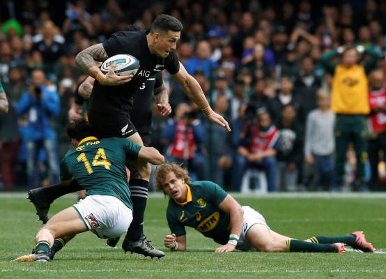 All Blacks midfielder Sonny Bill Williams attracts plenty of attention with ball in hand.