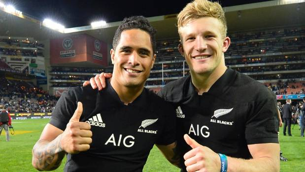 All Blacks Aaron Smith and Damian McKenzie were pretty happy after the match in Cape Town.