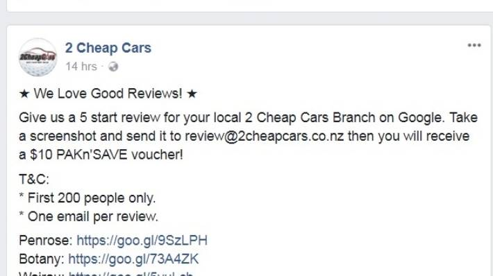 Watchdog Received 16 Complaints Against 2 Cheap Cars Stuff Co Nz