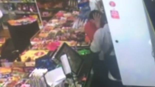 Usha Patel was dragged around the shop by the offenders.