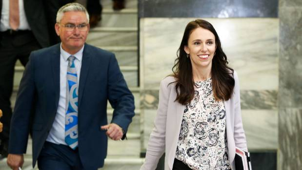 Labour leader Jacinda Ardern and deputy Kelvin Davis are trying a new approach - biscuit sweeteners.