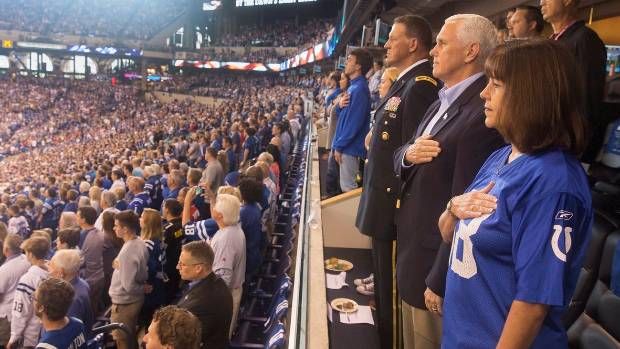 Pence Leaves NFL Game in Response to Players Kneeling During Anthem
