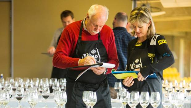 Respected and experienced wine judge Jim Harre and Sarah-Kate Dineen will get through close to 120 wines a day during ...