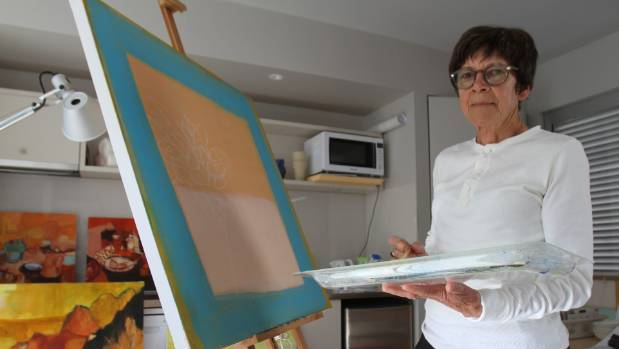 Jane Burdon is hosting her first exhibition at her Arrowtown home on Cotter Ave on Friday.