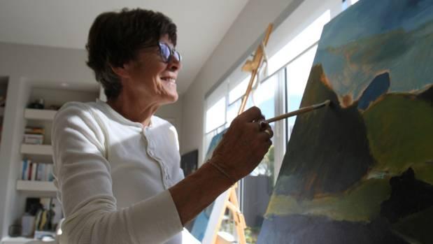 """I feel peaceful and very happy,"" artist Jane Burdon says."