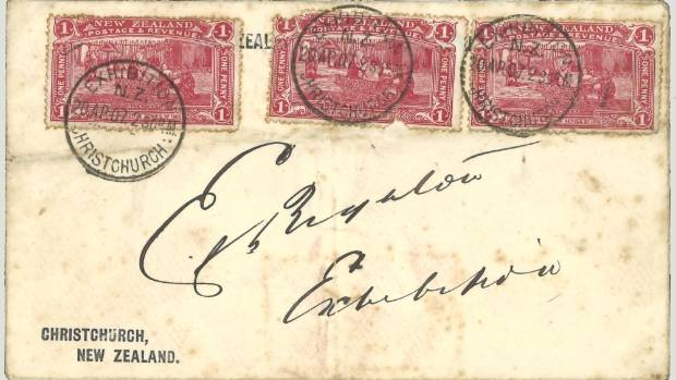 Three post-marked versions of the penny claret postage stamp - the first time any used penny clarets had been offered ...
