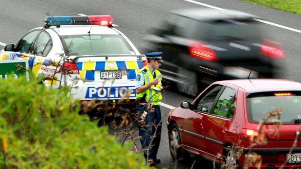 The number of traffic tickets issued in west Auckland has dropped by a fifth in 12 months (file photo).
