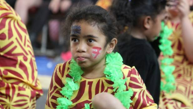 Abigail Ledua, 5, of Cromwell, at Fiji Day in Cromwell on Saturday. The event celebrated the anniversary of Fiji's ...