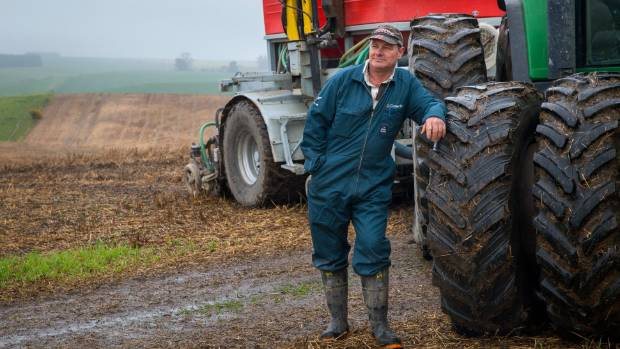 Cropping farmers such as Timaru's Michael Porter have been stymied by the weather with paddocks too wet to drill.