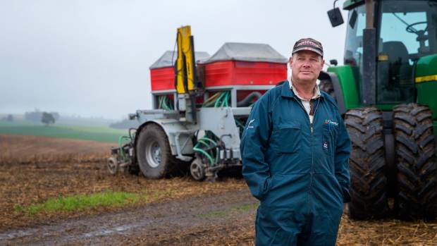 Lyalldale farmer Michael Porter can't drill his paddock due to the wet weather.