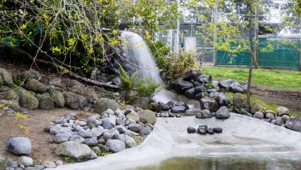The waterfall has been elevated to improve sound.