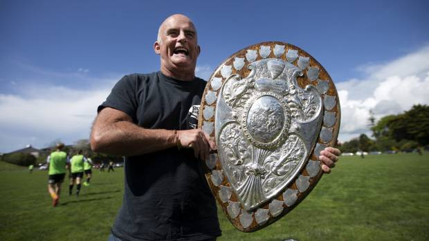 Craig Morris, 54, tracked down the shield specifically to have his photo taken with it and said he had been trying to ...