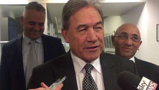 Winston Peters is the only leader saying anything substantive.