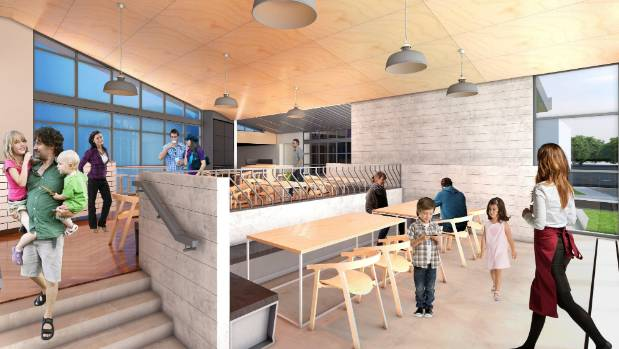 The centre will be home to a cafe and a baking school.