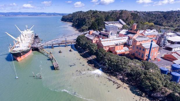 The iconic pink Chelsea Sugar Refinery has been on the Waitematā Harbour for 130 years.
