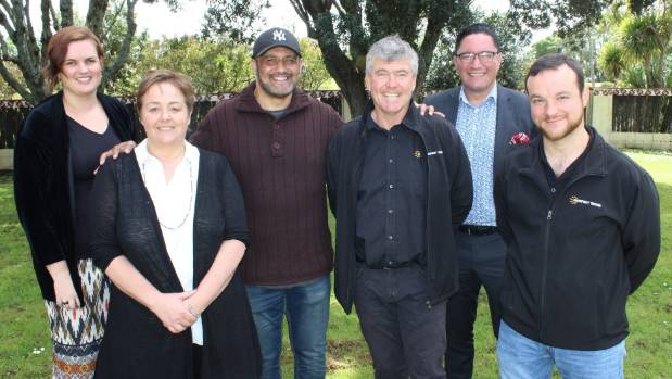 Involved in the signing of a memorandum of understanding between Te Puea Memorial Marae and various businesses are, from ...