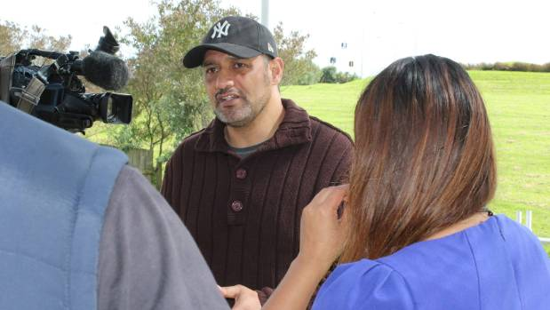 Te Puea Memorial Marae chairman Hurimoana Dennis speaks to media after signing the memorandum of understanding with ...