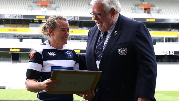 Emma Jensen was honoured for her 100th appearance for Auckland when they played old rivals Canterbury in September.