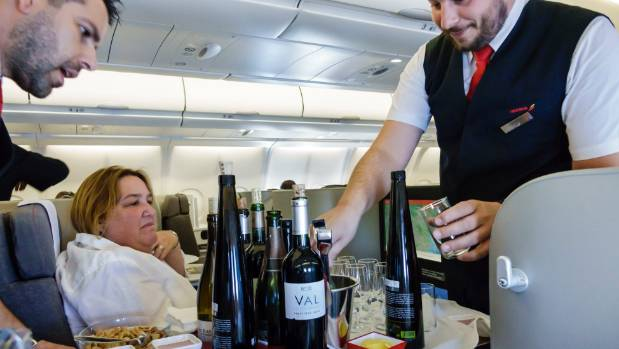 Finding the right wines for dehydrated and diminished palates high in the sky is key