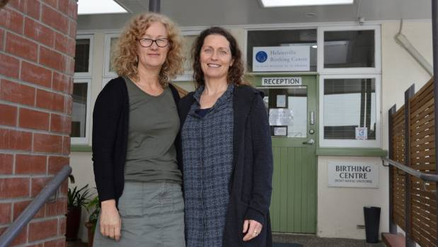 Helensville Birthing Centre lactation consultant Debbie Tetlow, left, with manager Michelle Nasey.