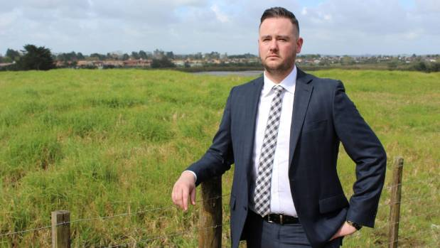 Bayleys Manukau salesman Nick Bayley says sections the size of the one pictured behind him, which is now on the market, ...