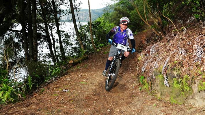 Peter Cranch taking part in the Taniwha on the South Waikato's Waikato River Trails (file photo).