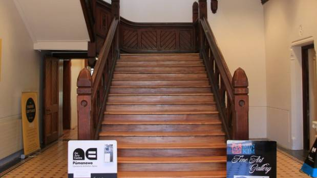 The much-loved staircase in the Boys' High section of the Arts Centre is open for business.