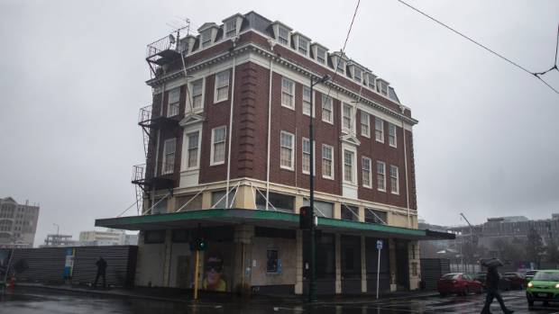 The building before restoration in 2015.