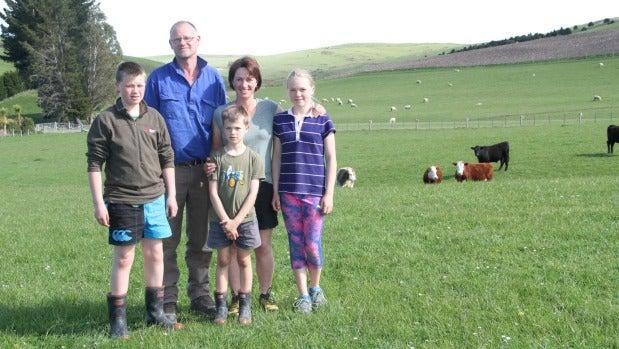 The Bulleid family on Glengordon farm, Dylan, 13, Chris, Blake, 8, Andrea, and Gemma, 11.